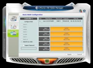 JMicron HW RAID Manager