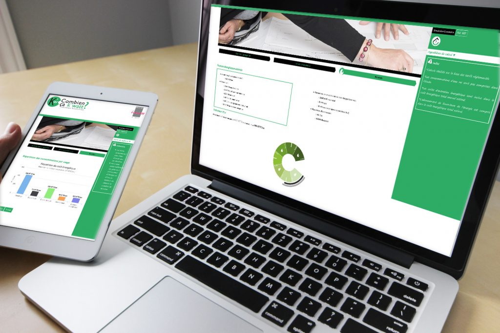Présentation de l'application web développée par Deltasight