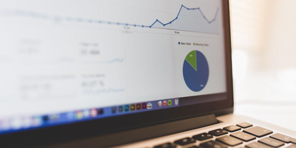 Courbe Google Analytics d'un site qui vient d'ouvrir