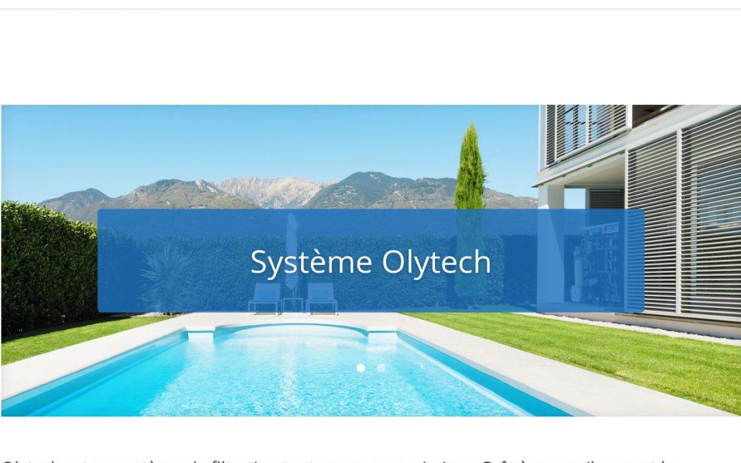 Olytech.fr,  site web minimaliste d'un système pour piscines