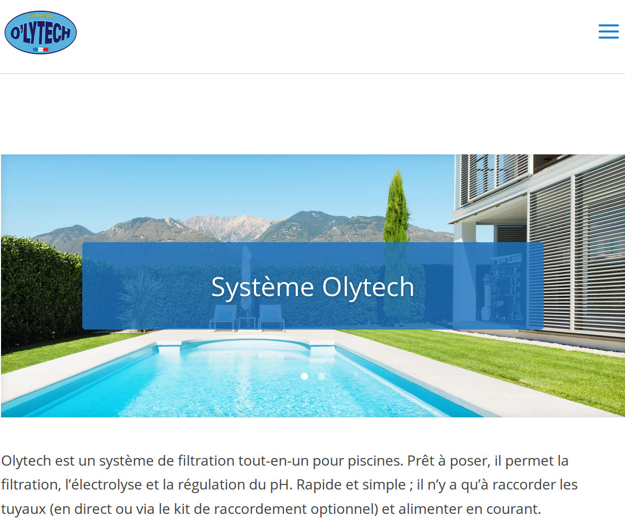 Site web minimaliste d 39 un syst me pour for Piscine minimaliste
