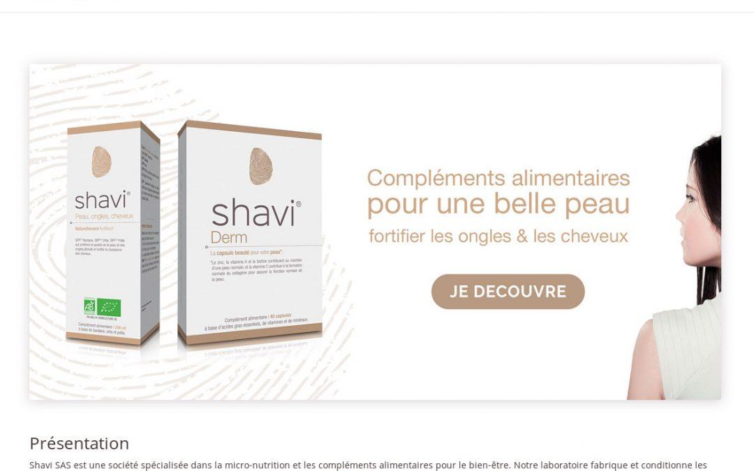 Création e-Commerce de vente de compléments alimentaires Shavi